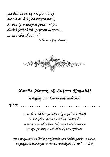 Zaproszenia ślubne A5 Małe W Rulonie Nr 13 Zaproszenia ślubne Na