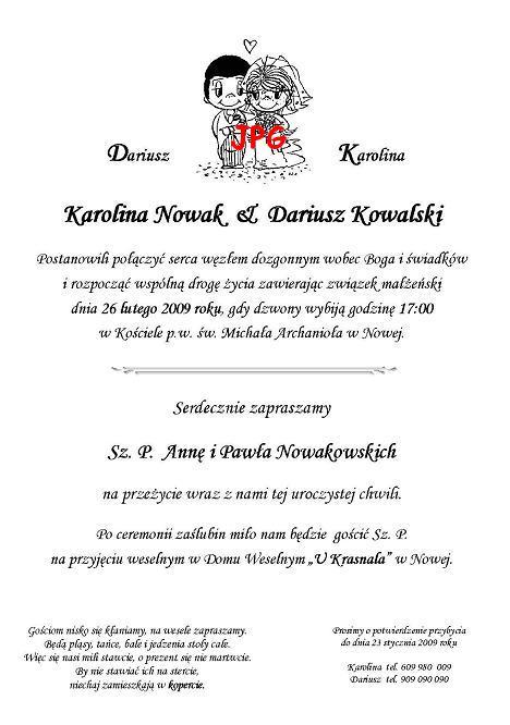 Zaproszenia ślubne A5 Małe W Rulonie Nr 2 Zaproszenia ślubne Na