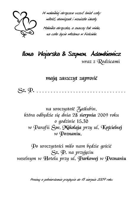 Zaproszenia ślubne A5 Małe W Rulonie Nr 9 Zaproszenia ślubne Na