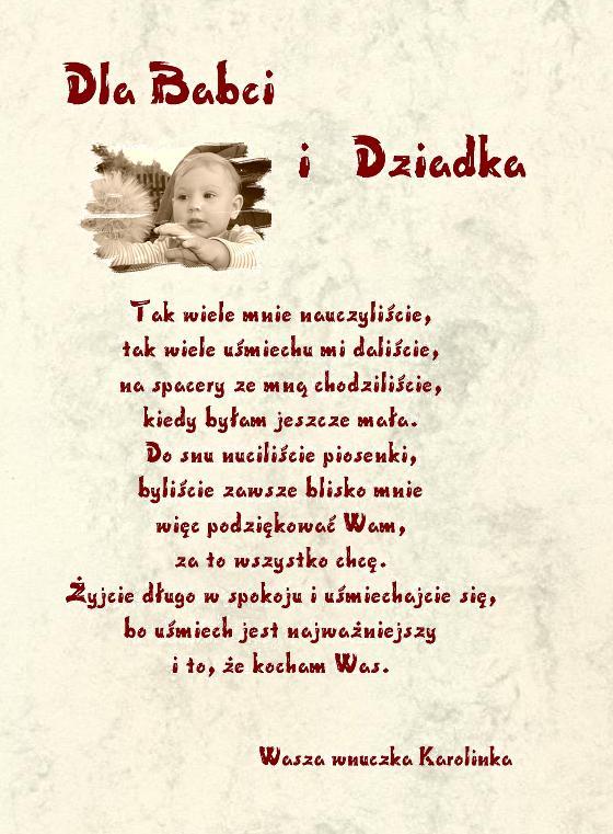 życzenia Kalendarz Prezent Na Dzień Babci I Dziadka W1