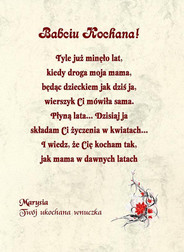 życzenia Kalendarz Prezent Na Dzień Babci I Dziadka W4