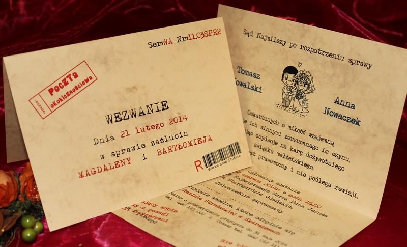 Wezwania Zaproszenia ślubne Na Sylwestra Sylwestrowe Andrzejkowe