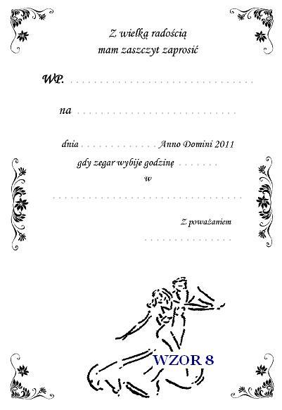 Zaproszenie Na Bal Gimnazjalny Szóstoklasistów I Inne Nr 8
